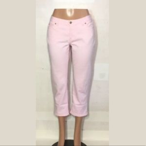 Caslon Womens cropped jeans pants mid rise skinny